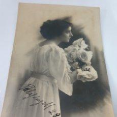 Postales: FOTO POSTAL DONCELLA JOVEN DEDICADA 1912 PALAFRUGELL. Lote 169422969