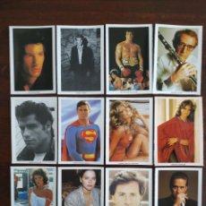 Postales: LOTES DE 12 POSTALES DE ACTORES Y ACTRICES FAMOSOS DE HOLLYWOOD. Lote 170199284
