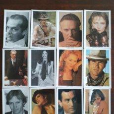 Postales: 12 RETRATOS DE LOS ACTORES Y ACTRICES MAS DESTACADOS DE HOLLYWOOD.. Lote 170199776
