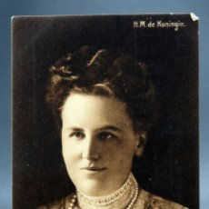 Postales: POSTAL REINA HOLANDA GUILLERMINA HM DE KONINGIN CIRCULADA SELLOS 1913. Lote 170521868