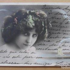 Postales: TARJETA POSTAL COLOREADA - CIRCULADA, ESCRITA EL 29 FEBRERO DE 1904 (BISIESTO) - SELLO DE 10 CTS.. Lote 171062055