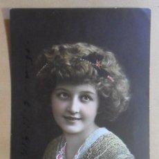 Postales: TARJETA POSTAL COLOREADA - DAMA CON FLORES - ED. AMAG - C'1911. Lote 171066824