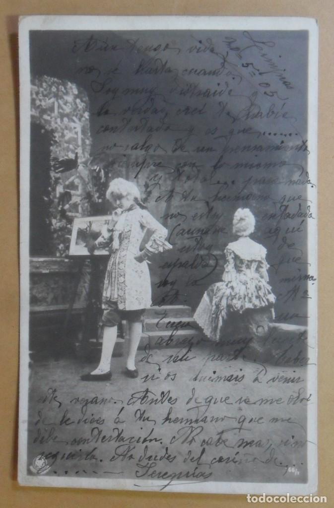 TARJETA POSTAL CIRCULADA - C'1903 - SELLO DE 10 CTS. (Postales - Postales Temáticas - Galantes y Mujeres)