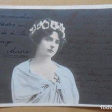 Postales: TARJETA POSTAL CIRCULADA EN 1904 - DAMA CON DIADEMA DE FLORES - SELLO DE 10 CTS.. Lote 171093884