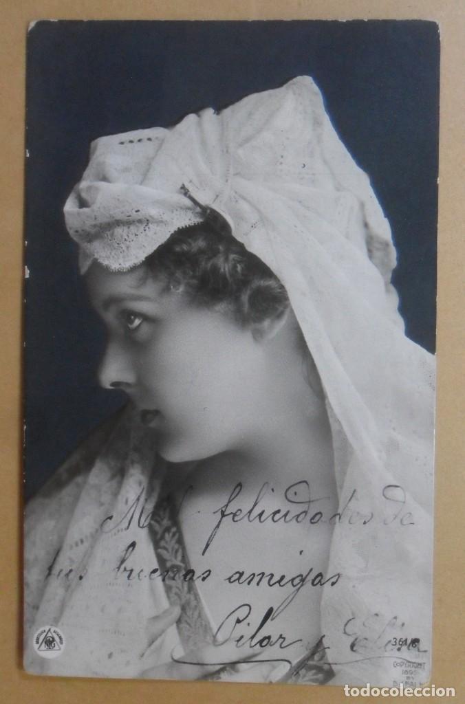 TARJETA POSTAL CIRCULADA - 12 DE MARZO DE 1907 - ED. GESETZUCH GESCHÜTZT - CR 1895 - SELLO 10 CTS. (Postales - Postales Temáticas - Galantes y Mujeres)