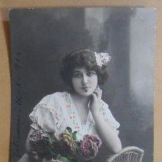 Postales: TARJETA POSTAL COLOREADA-CIRCULADA, TETUAN, 12 OCTUBRE 1914 -TAMPON DEL BATALLON CAZADORES DE MADRID. Lote 171097767