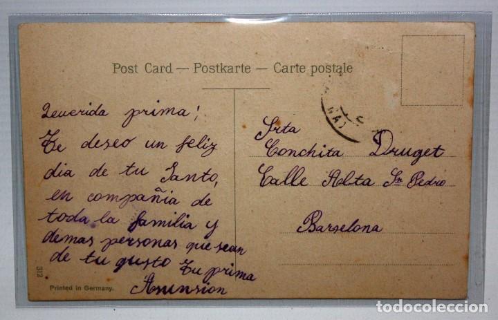 Postales: POSTAL ALEMANA - PAREJA GALANTE - PRINCIPIOS DEL SG XX - CIRCULADA. - Foto 2 - 171098023