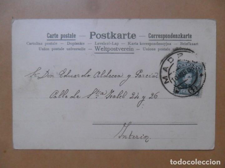 Postales: TARJETA POSTAL CIRCULADA 10 DE MARZO DE 1903 - VIOLETTA - SELLO DE 5 CTS. - Foto 2 - 171104843