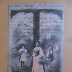 Postales: TARJETA POSTAL COLOREADA CIRCULADA 18 DE OCTUBRE DE 1903 - SELLO DE 10 CTS.. Lote 171105032