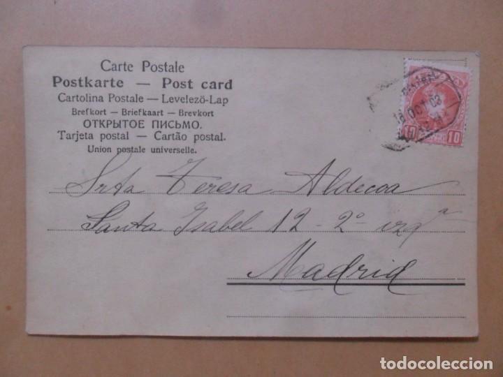 Postales: TARJETA POSTAL COLOREADA CIRCULADA 18 DE OCTUBRE DE 1903 - SELLO DE 10 CTS. - Foto 2 - 171105032