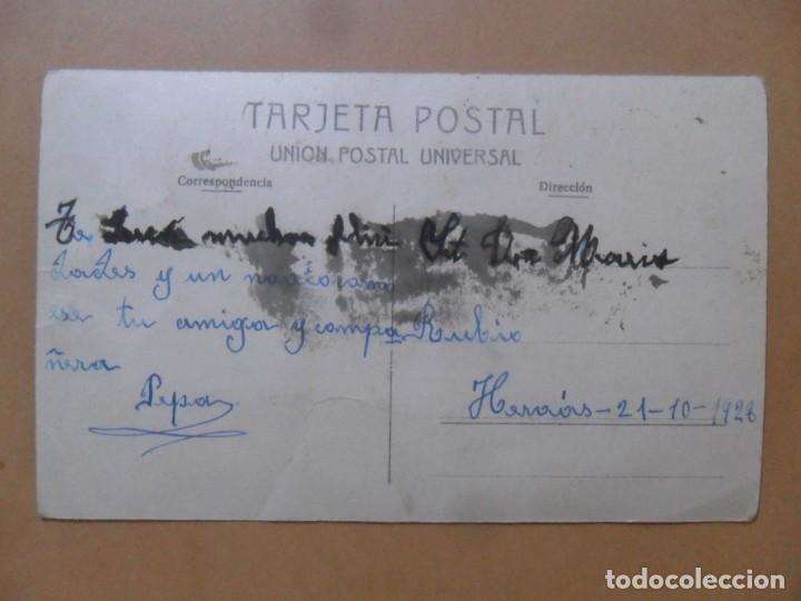 Postales: TARJETA POSTAL COLOREADA - ESCRITA EL 21 DE OCTUBRE DE 1928 - NOVIOS - Foto 2 - 171106332
