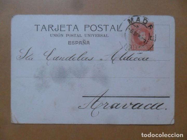 Postales: TARJETA POSTAL CIRCULADA EL 6 DE SEPTIEMBRE DE 1903 - SELLO DE 10 CTS. - Foto 2 - 171107028