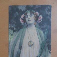Postales: TARJETA POSTAL COLOREADA - 1 DE ENERO DE 1909. Lote 171128499