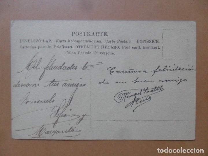 Postales: TARJETA POSTAL COLOREADA - 1 DE ENERO DE 1909 - Foto 2 - 171128499