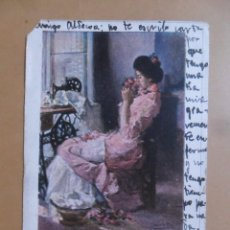 Postales: TARJETA POSTAL CIRCULADA - 16 AGOSTO 1904 - CREACIONES FEMINAS: LA HIJASTRA DEL AMOR - SELLO 10 CTS. Lote 171129813