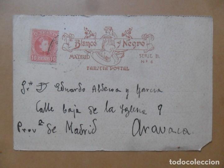 Postales: TARJETA POSTAL CIRCULADA - 16 AGOSTO 1904 - CREACIONES FEMINAS: LA HIJASTRA DEL AMOR - SELLO 10 CTS - Foto 2 - 171129813