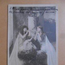 Postales: TARJETA POSTAL COLOREADA C'1902-MLLE. SPINDLER ET MLLE. ROBINNE-LE CULTE DU GUI 112/11-H MANUEL, PA. Lote 171132638