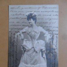 Postales: TARJETA POSTAL CIRCULADA-28 DE SEPTIEMBRE DE 1904 - MLLE. SAULIER (ACTRIZ DE TEATRO) -SELLO 10 CTS.. Lote 171133789
