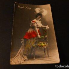 Postales: URSULA LOPEZ POSTAL CANTANTE CUPLETISTA ARTISTA TEATRO. Lote 171323653