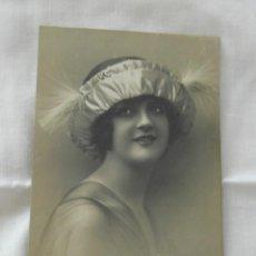 Postales: ANTIGUA POSTAL DE MUJER DE 1918,MARGARA 421 ESCRITA.. Lote 171410363