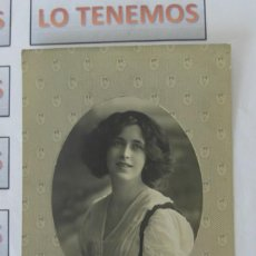 Postales: ANTIGUA FOTOGRAFÍA-POSTAL DE MUJER DE 1912 ,ESCRITA.. Lote 171413739