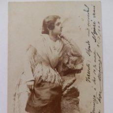 Postales: POSTAL MUJER DE ÉPOCA 1903.. Lote 171738095