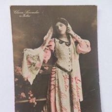 Postales: POSTAL CANTANTE OPERA CLARA SERVADIO 1907.. Lote 171738328