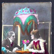 Postales: POSTAL ROMÁNTICA COLOREADA MUY ANTIGUA MARCA RAPIDE SERIE Nº 1196 - MANUSCRITA SIN CIRCULAR AÑO 1922. Lote 172833607