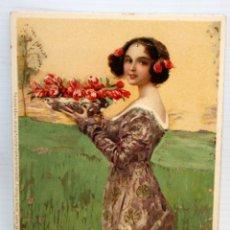 Postales: ANTIGUA POSTAL - MEISSNER&BUCH - ART-NOVEAU -SIN CIRCULAR. Lote 173193308