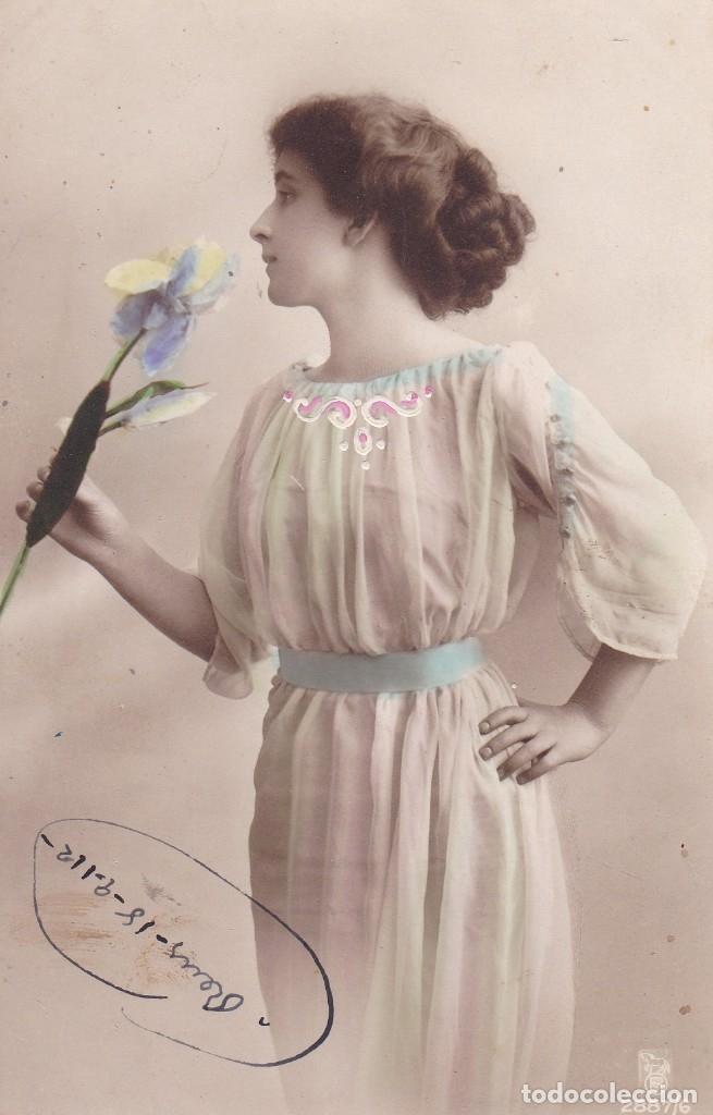 HERMOSA MUJER CIRCULADA 1912 (Postales - Postales Temáticas - Galantes y Mujeres)