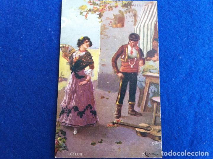 POSTAL ANTIGUA. CELOS. OILETTE, RAPHAEL TUCK & SONS LTD # 9160. ESPAÑA. BAILADORES DE FLAMENCO (Postales - Postales Temáticas - Galantes y Mujeres)