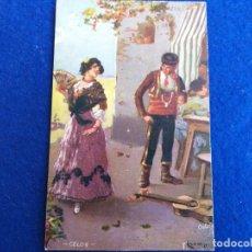 Postales: POSTAL ANTIGUA. CELOS. OILETTE, RAPHAEL TUCK & SONS LTD # 9160. ESPAÑA. BAILADORES DE FLAMENCO. Lote 173509048