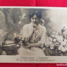 Postales: FOTO POSTAL ANTIGUA. MUJER. BLANCO Y NEGRO. FRANCIA . Lote 173564435