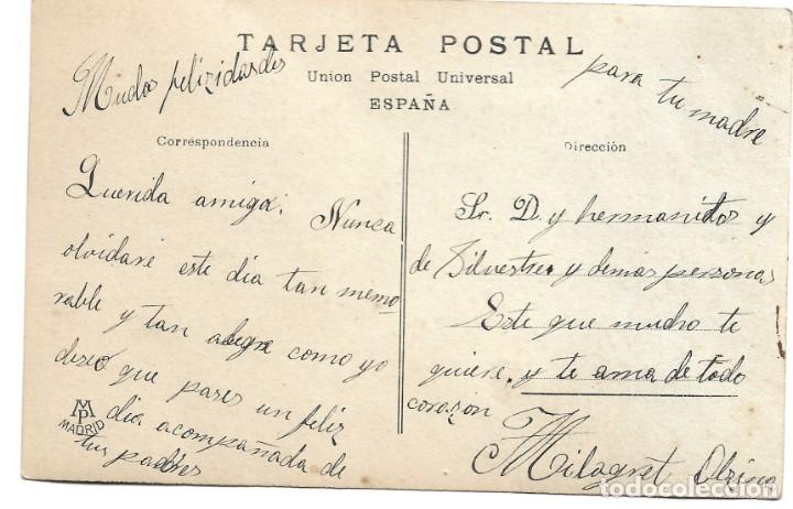Postales: SRTA. CONCHITA LEDESMA, REINA DE LAS FIESTAS MI-CARÊME - EDITA MP MADRID - MANUSCRITA - Foto 2 - 175125109
