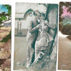 Postales: LOTE 3 POSTALES ROMÁNTICAS MUY ANTIGUAS DE FRISA, P.C. PARIS Y OTRA - MANUSCRITAS AÑOS 20. Lote 175125883