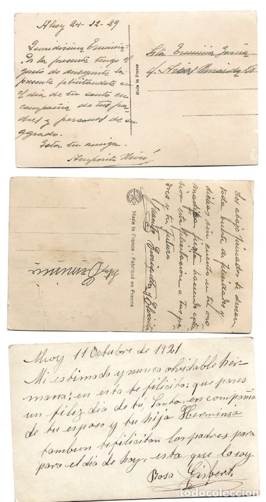 Postales: LOTE 3 POSTALES ROMÁNTICAS MUY ANTIGUAS DE FRISA, P.C. PARIS Y OTRA - MANUSCRITAS AÑOS 20 - Foto 2 - 175125883