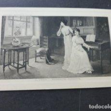 Postales: DAMAS AL PIANO POSTAL. Lote 176104768