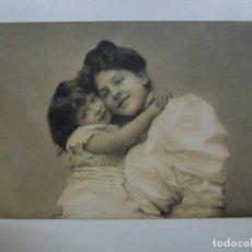 Postales: POSTAL ANTIGUA. DAMA Y NIÑA. ESCRITA.. Lote 176266488