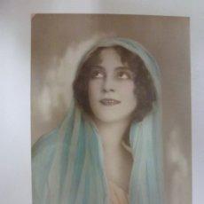 Postales: POSTAL ANTIGUA COLOREADA. DAMA. WEKO 10407/2. ESCRITA EN 1923.. Lote 176543387