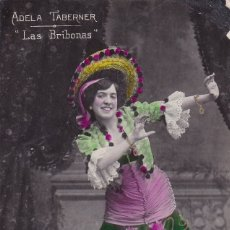 Postales: ADELA TABERNER LAS BRIBONAS CIRCULADA. Lote 176743222