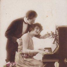 Postales: PAREJA TOCANDO EL PIANO SIN CIRCULAR ED. R.P 1706 . Lote 176833762