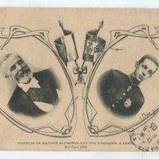 Postales: POSTAL 1905. VISITA DE ALFONSO XIII A PARIS. Lote 176906470