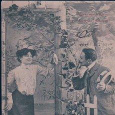 Postales: SERIE DE 2 POSTALES DE ENAMORADOS - CIRCULADAS EN 1906. Lote 177033945