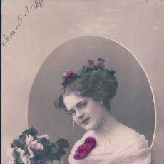 Postales: POSTAL MUJER DE EPOCA - 02009/10 - JEREZ 1910. Lote 177036917
