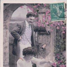 Postales: POSTAL PAREJA DE NOVIOS - CIRCULADA 1909 - STEBBING V B C SERIE 3455 - ETOILE. Lote 177339644