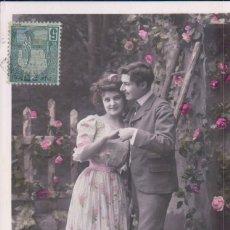 Postales: POSTAL PAREJA ENAMORADOS - V B C SERIE 3401 - CIRCULADA 1908 - ETOILE - VALERY. Lote 177365905