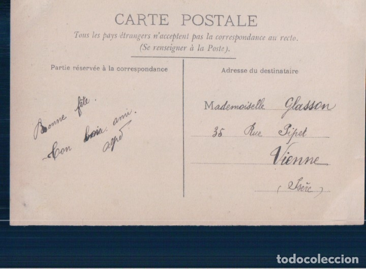 Postales: POSTAL MUJER CON ABANICO - CIRCULADA 1911 - 4648 CIRCE - Foto 2 - 177370678