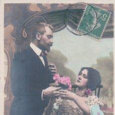 Postales: SERIE DE 4 POSTALES - PAREJA DE ENAMORADOS - PRINCES 1274 - S.I.P - CIRCULADAS 1907. Lote 177605668