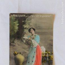 Postales: POSTAL FRESQUITA...QUIEN LA QUIERE, COLOREADA, 1907 EDITOR VALLADOLID. Lote 178090887