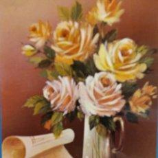Postales: RAMO DE FLORES, FELICIDADES P 20015-2. USADA. Lote 178867712